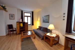 Wohnzimmer - Apartment mit 1 Schlafzimmer - Fux Altstadt Appartments Augsburg